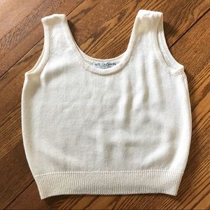 ST JOHN knit tank sweater